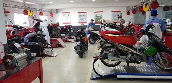 Hệ thống HEAD Hoàng Việt - trung tâm bảo dưỡng xe máy Honda hàng đầu